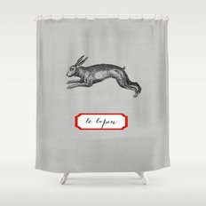 le lapin Shower Curtain