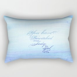 bewitched me body and soul.. pride and prejudice. Rectangular Pillow