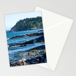 Costal Vibes // Northeastern Maine Rocks and Ocean Photograph Stationery Cards