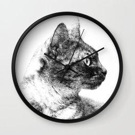 Profile of Stella the Grey (Cat) Wall Clock