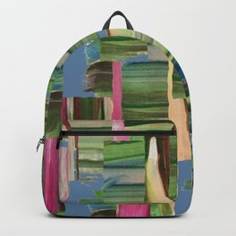 Painted Paper Collage Backpack