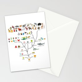 Evolution scale from unicellular organism to mammals. Evolution in biology, scheme evolution Stationery Cards