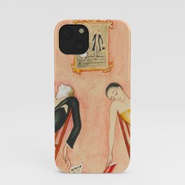 Family Idyll; Love and Marriage and Other Common Disasters portrait painting by Nils Dardel iPhone Case