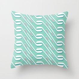 Sticks On Ice Blue Throw Pillow