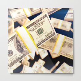 Flying dollars Metal Print