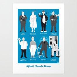 ALFRED'S FAVORITE CAMEOS Art Print