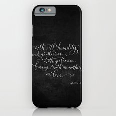 Bearing in Love // White on Black Slim Case iPhone 6s