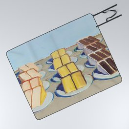"""Classical Masterpiece """"Cake Rows"""" by Wayne Thiebaud,1920 Picnic Blanket"""