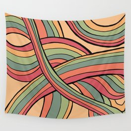 Rolling Waves Of Peachy Panic Wall Tapestry