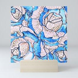 Summer Rose Flowers Illustration Mini Art Print