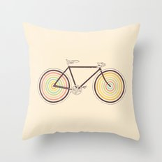 Velocolor Throw Pillow