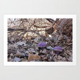 Knitted Violet-Gray Bolete Art Print