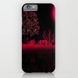 Fuchsia Moon iPhone Case