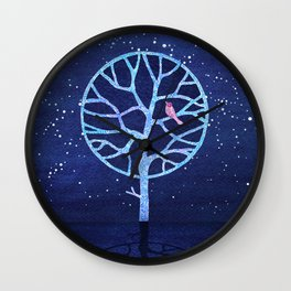 Nightingale tree Wall Clock