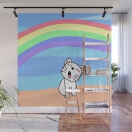 Snow's Rainbow on Color Wall Mural