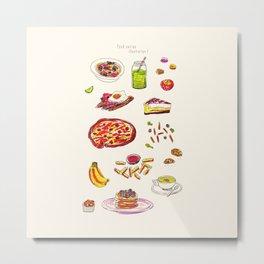 Food Series - Illustration 1 Metal Print