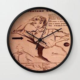 1950's vintage sewing pattern VI Wall Clock