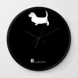 Basset Hound   Dogs Wall Clock