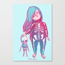 candy ghosts Canvas Print