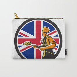 British Pizza Baker Union Jack Flag Icon Carry-All Pouch