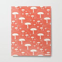 In the park - Fabric pattern Metal Print