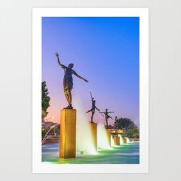 Children's Fountain Lights - Kansas City Missouri Art Print