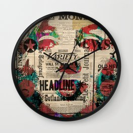 Mrs. Monroe Hollywood POP ART CELEBRITY MOVIE STAR ART PAINTING Wall Clock