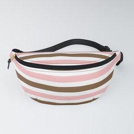 Stripe Duo Brown & Pink Fanny Pack
