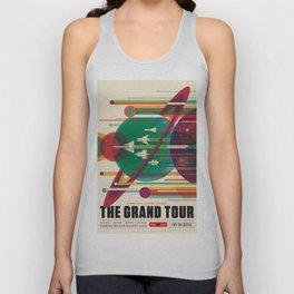 NASA Retro Space Travel Poster The Grand Tour Unisex Tank Top