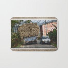 NEPALI HAY RIDE ON THE ROAD TO NAGARKOT Bath Mat