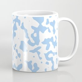Spots - White and Baby Blue Coffee Mug