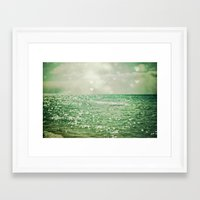 beach Framed Art Prints featuring Sea of Happiness by Olivia Joy StClaire