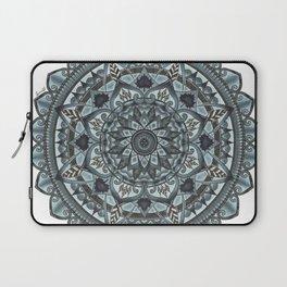 Geo-Circle. Grey. White Background. Laptop Sleeve
