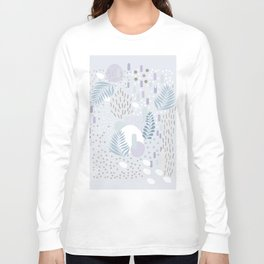 Close to Nature - Simple Doodle Pattern 2 #society6 #pattern #nature Long Sleeve T-shirt