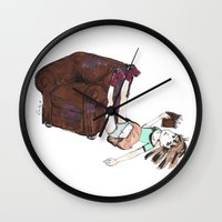 reading Wall Clocks featuring Reading by Ciccimon