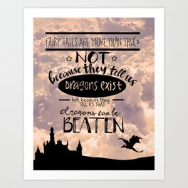 Conquering Dragons and Clouds Art Print