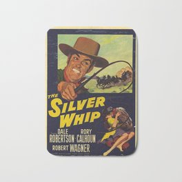 Vintage Movie Posters, The Silver Whip Bath Mat