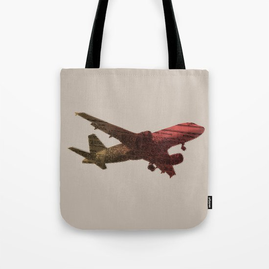 Dad's on that paper flight again Tote Bag