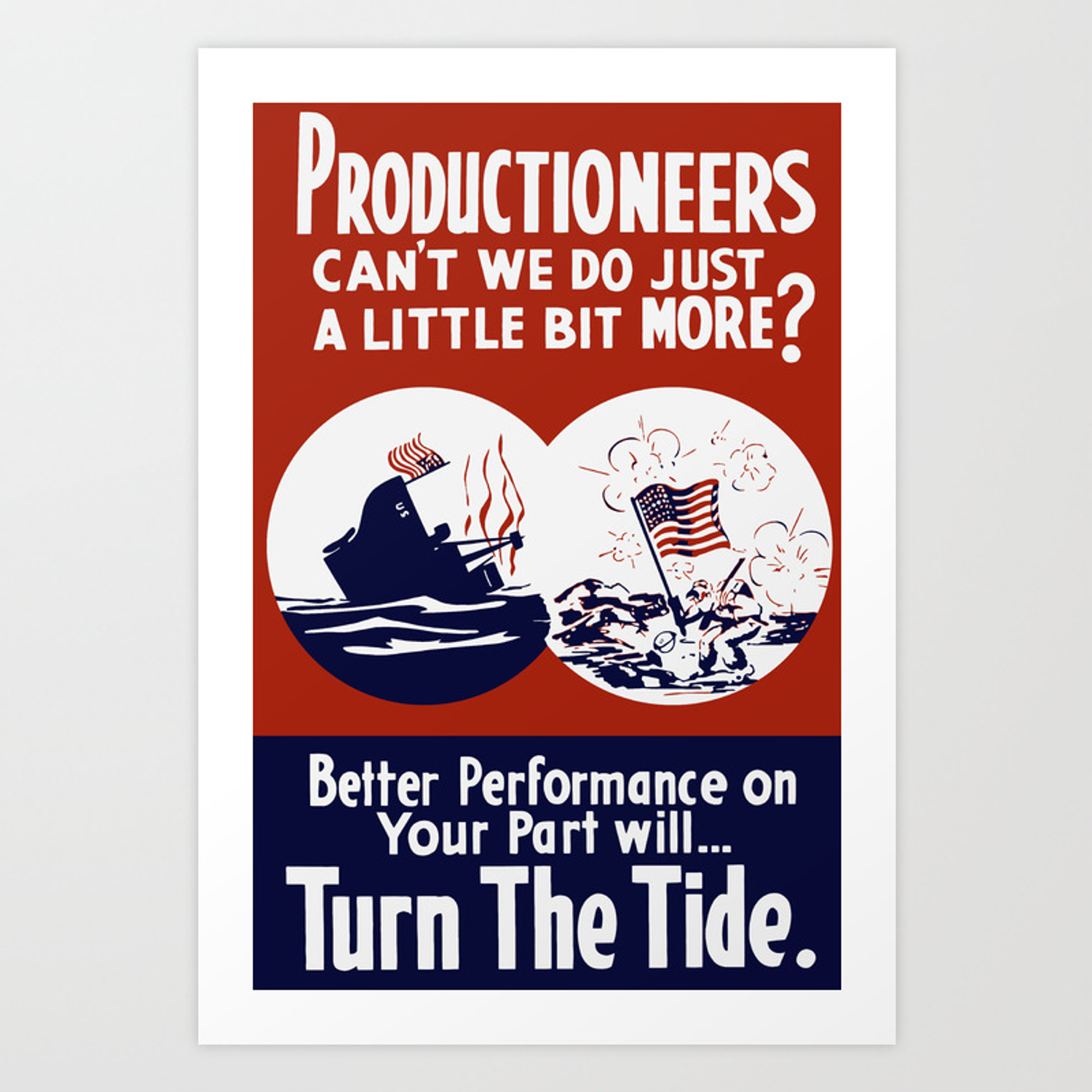 Can't We Do Just A Little Bit More -- WW2 Poster Art Print