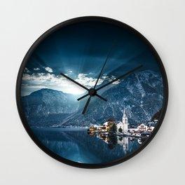 hallstatt in austria Wall Clock