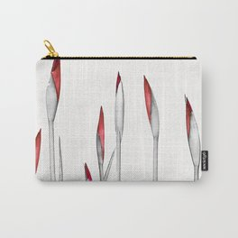Red and White Spring Carry-All Pouch