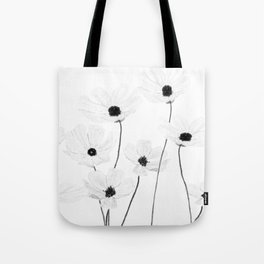 black and white cosmos Tote Bag