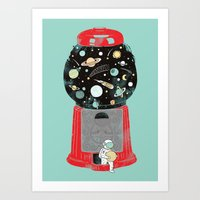 universe Art Prints featuring My childhood universe by I Love Doodle