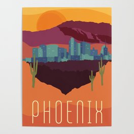 City Series - #Phoenix #Arizona #Travel #Poster Poster