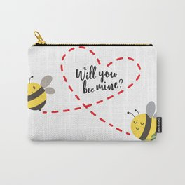 Will you be mine? - valentine day quote Carry-All Pouch