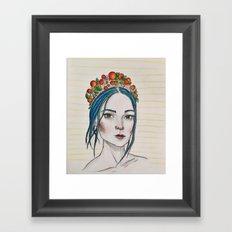 Berry Girl Framed Art Print