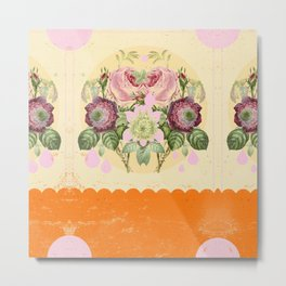 PSYCHEDELIC FLOWERS Metal Print