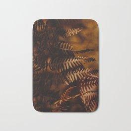 Autumn Fern Tree Leaf Brown Coffee Color Bath Mat