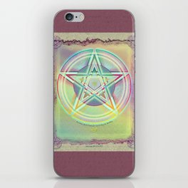 Rainbow Ghosted Pentacle iPhone Skin