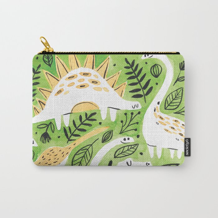 Dinosaur Forest Carry-All Pouch